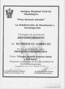 Pierre Albrecht, marbella clinic, Profesor invitado en Guadalajara, Mexjico