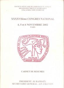 Carnet de résumé SOFCPRE 2002 - Pierjean (pierre) Albrecht